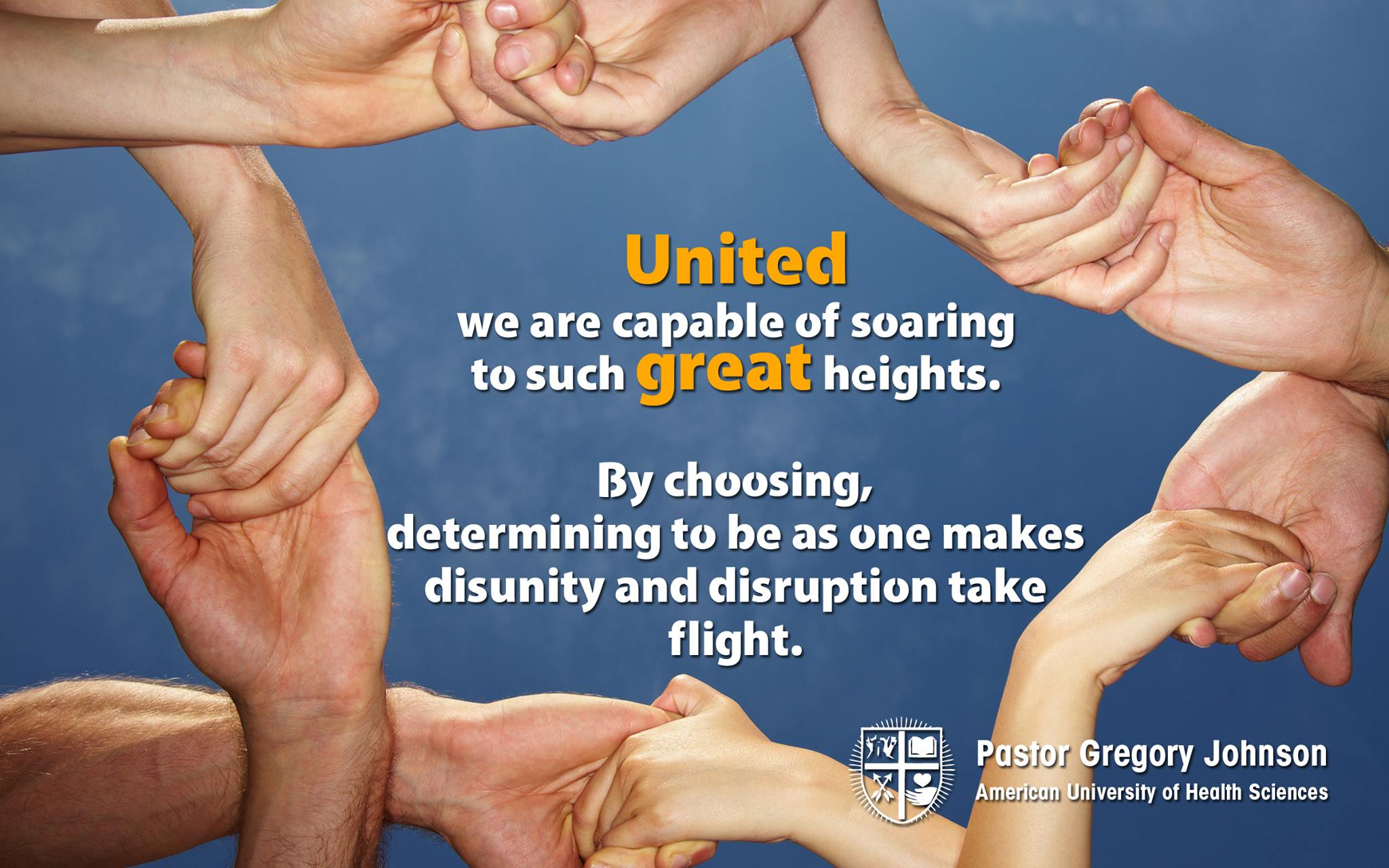 United we are capable of soaring…