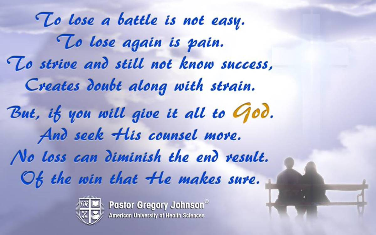 To lose a battle is not easy…