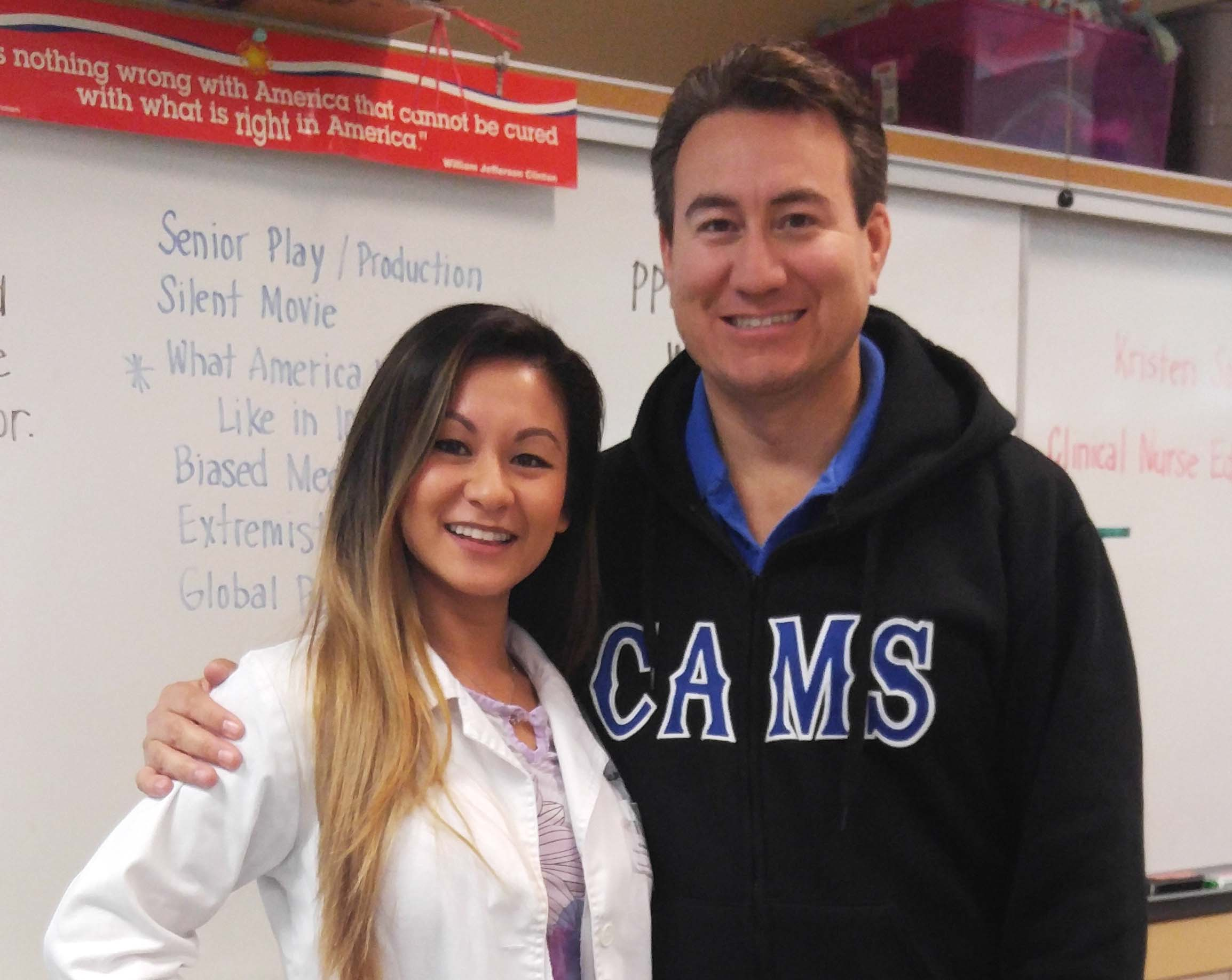 AUHS Instructor Inspires Students at CAMS Career Day