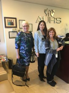 (From left to right) Lafayette Elementary School Principal Wendy Thompson, AUHS Founder Dr. Kim Dang (Hon.), and Lafayette Elementary School Counselor, Nancy Rettig.